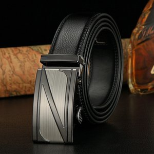 Hot Selling Genuine Two-Layer Leather Automatic Checkoff Belt Mens Leather Waistband Casual Business Cattle Belt Factory Wholesale
