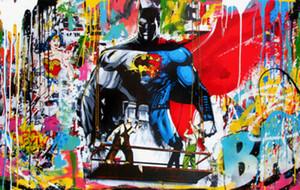 Г-н Brainwash Superman Batman Home Decor расписанная HD Печать картина масло на холст Wall Art Холст картинки 200815
