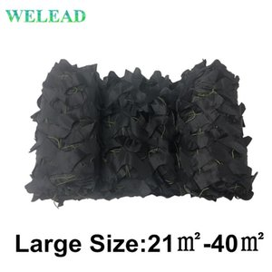 WELEAD de gran tamaño Negro reforzado camuflaje Nets jardín de sombra Toldos Pergola malla de 3x7 5x5 4x6 4x8 4x9 3x8 3x9 4x7