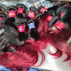 Angela girl babe love wholesale 10pcs lot indian brazilian virgin human hair straight wavy bundles colors red wine