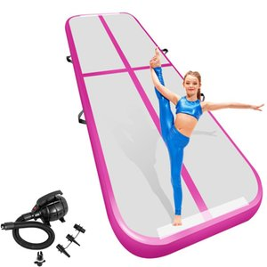 5 6M Airtrack Mat Inflatable Air Track Gymanstics Tumbling Mats Floor Training Mats with Electric Pump