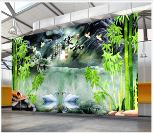 Custom photo wallpaper 3d mural wallpaper Rural landscape bamboo forest mural living room TV background wall papers home decoration painting