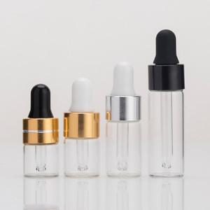 1ml 2ml 3m 5ml Temizle Cam Esansiyel Yağı Damlalık Şişeler Yüksek Kalite Mini Boş Göz Damlalık Parfüm Kozmetik E Sıvı örnek LX2975