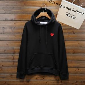 20FW Hoodies for Men Autumn Mens Hoodie Sweatshirt Loose Style Fashion Tide Winter Coat Pullover Homme Clothing with Heart Embroidery S-3XL