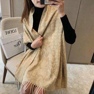 2020 Qualità lusso colorato lettera Designers sciarpa di seta donne Lettera dello scialle famoso Dior Sciarpe Instock 001