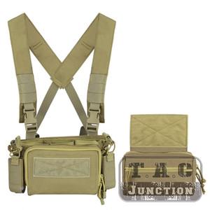 Semplice versione 3 Chest Rig Set Leggero armatura portante 5,56 Magazine Pouch per caccia pratico tattico Chest Rig CB