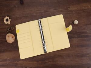 내부 페이지 학교 용품 A07을하지 않고 학교 느슨한 잎 노트북 커버 4 색 파일 폴더 바인더 A6 PU 노트북