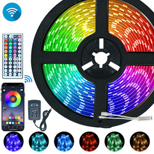 10M WiFi LED Strip Light RGB 2835 SMD 5050 Flexible Ribbon Waterproof RGB LED Light 5M Tape Diode Lamp WiFi Remote Controller