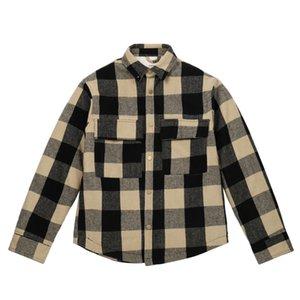 20FW FEEAR OFF GOOD High Street karierte Jacke Gelb Lattice Buttons Vintage-Jacke Paar Damen Herren Street Fashion Coat HFXHJK128