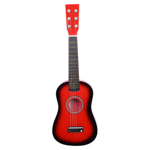 23 Inch Red Guitar Beginners Practice Acoustic Guitars with Pick 6 String for Children Kids Musical instrument US Stock