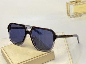4354 Sonnenbrille der Männer einfache Art und Weise populärer Retro wilder Stil Anti-UV-Objektiv rahmenlos hochwertige freies Paket