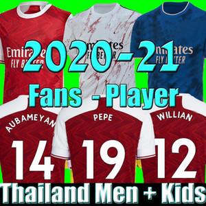 MEN WILLIAN  çocuklar setleri üniformalar fanlar player sürümü 2020 2021 futbol takımları futbol jersey 19 20 21 TIERNEY HENRY futbol forması futbol tepelerini Arsen