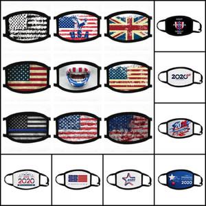 Amerikan Ulusal Bayrak Maskeler 2020 Cumhurbaşkanı Seçimi Maske toz geçirmez Pamuk Maskeler Yıkanabilir Bisiklet Anti-sis Yüz Maskeleri Boş Siyah Beyaz Maske