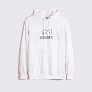 diseñador de 2020 bl de los hombres otoño e invierno con capucha de la calle de los hombres de moda y con capucha de baloncesto de alta calidad de las mujeres suelta Sw