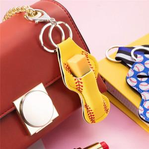Colgante del encanto real de piel de zorro de Pom Pom Llavero de la llave del coche del anillo de felpa Fox Fox Llavero sostenedor del bolso de las mujeres Clave # 488