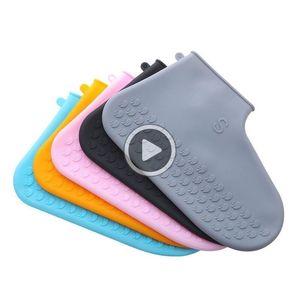 Impermeable Soe ERS Recyclale Sile Oversoes prueba de lluvia para niños Mujeres Soes ERS lluvia oots Soes Acssories polvo er Christine