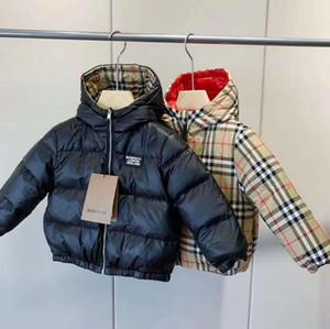 Heißer Verkauf Neue Marke B Kinder Oberbekleidung Junge und Mädchen Winter Hoodie Dicke Mantel Kinder Baumwollmantel Daunenjacke Größe 110-150