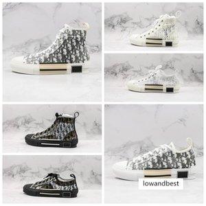 Los zapatos de plataforma de la vendimia nueva B23 oblicua alta top deportivos de lujo B24 Obliques Técnica talla de hombre para mujer de moda las zapatillas de deporte 36-44