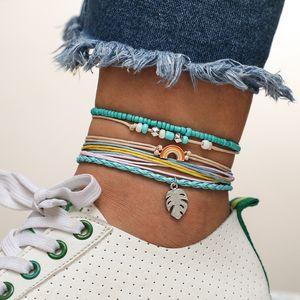 2020 Rainbow Bracelets Anklet Vintage Design Boho Bracelets Knot Macrame Bracelet Fashion Gifts For Daughter Frineds Sisters String Bracelet