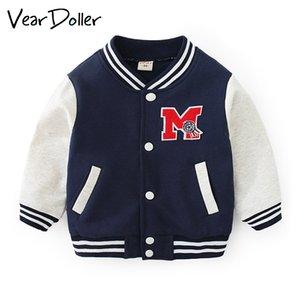 Roupa de uniforme de beisebol Primavera Outono Crianças VearDoller Boy Casual crianças à prova de vento Sportswear Meninas Meninos Jacket Coats Y200831