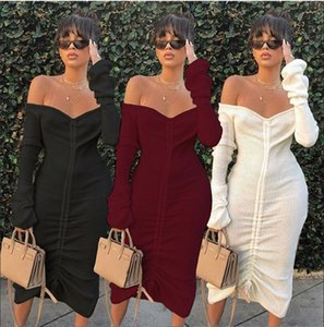 Summer Dress 2019 New Women Casual Dress Sexy Party Dress Drawstring Midi Womens Clothes Hot Sale ladies casual dresses