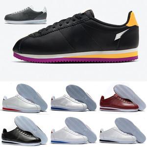 Zapatos básica PRM hierro gris Triple White Reciclado Juego Real de estratificación del color de rosa de la cereza de la espuma láser de color naranja vivo púrpura para mujer para hombre de Cortez Runnign