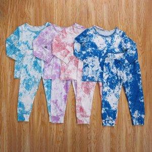 Emmababy bébé fille « Outfit, longue de 2pcs manches Tie Dying Imprimer Haut et taille élastique longues Pantalons Automne Fashion Set 1-6years