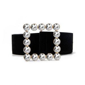 glitter rhinestone strass belt luxury designer black big wide belts for women waist dress girls female chastity ceinture fashion Y200807