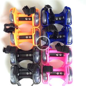 Piscando patins Shoes pequeno Whirlwind Pulley o Flash roda calcanhar ABS + Shoes Aço Sports Rollerskate para crianças e adultos