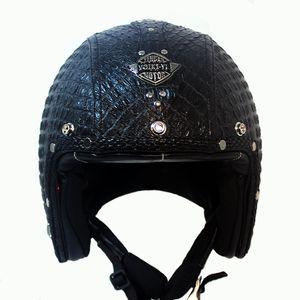 kask ücretsiz gönderim için Açık Yüz Yarım Deri Kask Moto Motosiklet Kaskları bağbozumu Motosiklet Headguard Casque Casco