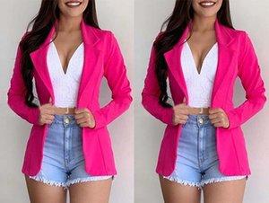 새로운 패션 캐주얼 일반 컬러 스티치 정장 LZ5292 # 새로운 여성의 패션 캐주얼 일반 코트 색상 여성 정장 코트 LZ5292 번호를 바느질