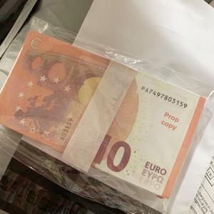 Высокое качество Притвориться Euro10 Money Paper Copy Banknote Prop Money Faux Gooket Movie Play Money 100pcs / pack