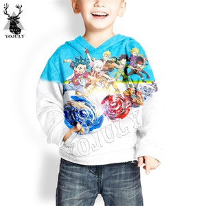 YOJUKY Child Fashion Pullover Sweatshirt Anime Beyblade 3D Print Harajuku Boy Hoodie Clothing Kids Baby Casual Long Sleeve Shirt 0924