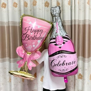 Large helium balloon champagne glasses balloon wedding wedding birthday party decorations adult children balloon event party supplies.