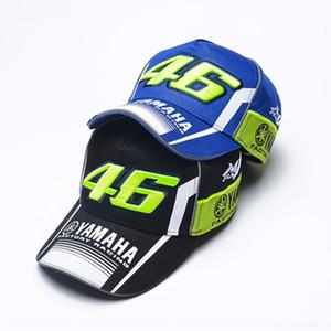 Motosiklet VR46 şapka beyzbol şapkası Yamaha Motosiklet Sivri beyzbol yarış kap mektup tepeli güneş XZEot işlemeli
