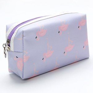 Путешествия площади Flamingo хранения сумки Водонепроницаемый Wash Bag Cosmetic Bag PU Макияж Организатор путешествия Косметическая сумка туалетных Организатор BC BH0788