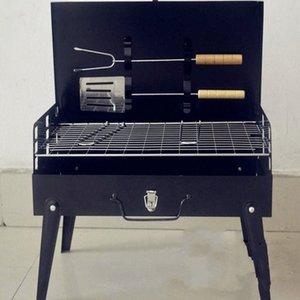 2017 begrenzte Förderung Schwarz 3-5 Personen nicht beschichtet Guss 3c Outdoor-Grill Koffer Grill Portable Zubehör Camping Supplies kTxo #