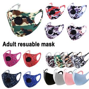 Ice Silk Gesichtsmaske mit Atemventil waschbarer Sommer Maske Wiederverwendbare Anti-Staub PM2.5 Schutzmasken Mode Design Bereiten Maske