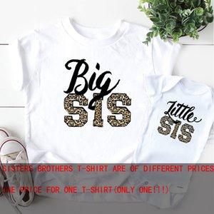 Piccola Sorella Camicia di Leopardo grande Sorella fratello Camicia di Leopardo t-Shirt Sorelle gravidanza annuncio di corrispondenza