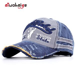 Fashion Baseballmütze Männer / Frauen Hysteresen-Hut Unisex Vintage Baseball Cap Sport-Vati-Hut Cotton Male Trucker Gorras Knochen Tone