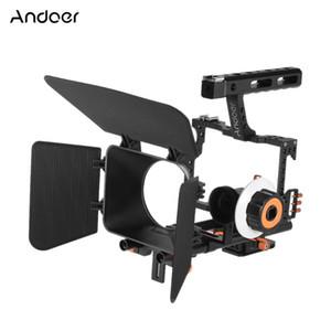 Andoer C500 Camcorder Camcorder Videocamera Video Cage Rig Kit Box opaco + Seguire Mettina messa a fuoco + Grip maniglia per telecamera A7S / A7 / A7R Ildc