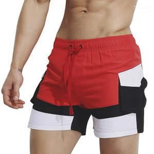 Beach Shorts Colors Patchwork Elastic Waist Mens Swimwear Board Shorts Summer 19SS