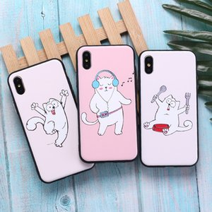 The New Style Is Suitable For Apple X XR XM Mobile Phone Case Cute Cartoon Painted Embossed Anti-Fall Apple 7 8 Protective Cover