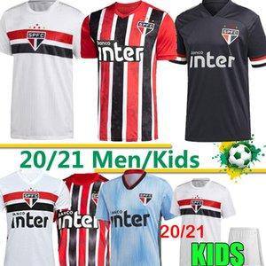 20 21 São Paulo Jersey DANI ALVES PATO terceiro afastado preto vermelho Futebol 2020 2021 Hernanes Clube Início camisa de futebol branco Tailândia