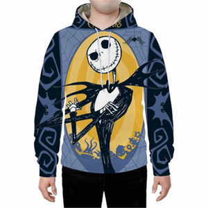 Casual sudaderas Moda Digital 3D flojo suéter con capucha Ropa de diseño nuevo macho cuello redondo suéter suéter de Halloween Cosplay del hombre