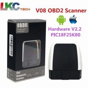 V08 ELM327 V2.2 PIC18F25K80 auto interfaccia diagnostica hardware 2.2 per Android di Windows betterthan V1.5 OBDII OBD Scanner GiRz #