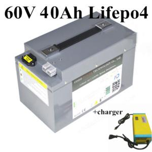 Высокое качество водонепроницаемая батареи 60V 40Ah LiFePO4 батарея с BMS для 3000W Ebike Электрический самокат Трехколесный + 5A зарядное устройство