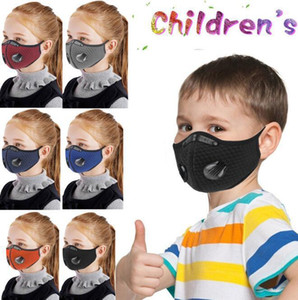 DHL Activated Kids Cycling Carbon 25*13cm Prevent Sports Saliva With Transmission Outdoor Mask Anti-Dust Anti-Pollution SHIP Filter Val Qvtp