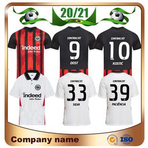 2020 Eintracht Frankfurt Kostic Jovic Soccer Jersey 20/21 Francfort Kamada Fernandes de Guzman Silva Paciencia Chandler Uniforme de football