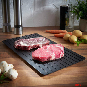 S M L Fast Defrosting Tray Plate Defrost Meat or Frozen Food Quickly Without Electricity Microwave Thaw Frozen Food In Minutes BH2759 DBC